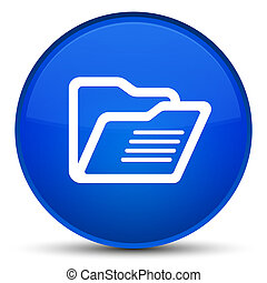 Folder icon special blue round button