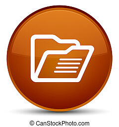 Folder icon special brown round button