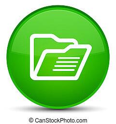 Folder icon special green round button