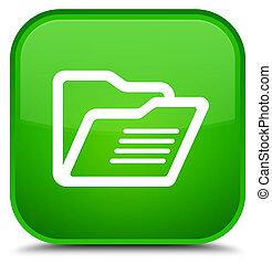 Folder icon special green square button