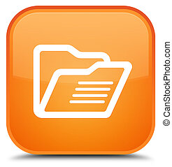 Folder icon special orange square button