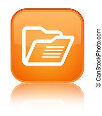 Folder icon special orange square button