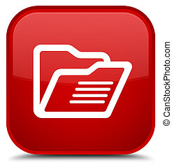 Folder icon special red square button