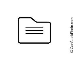 Folder Icon Vector Illustration on the white background.
