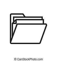 Folder icon vector. Simple folder sign in modern design style for web site and mobile app. EPS10