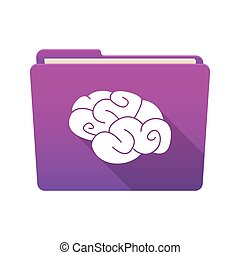 Folder icon with a brain