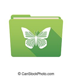 Folder icon with a butterfly