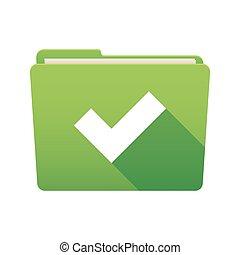 Folder icon with a check mark