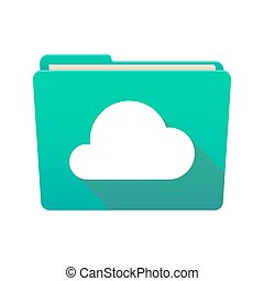 Folder icon with a cloud