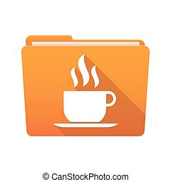 Folder icon with a coffee cup