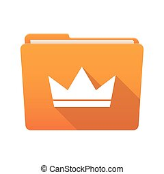 Folder icon with a crown