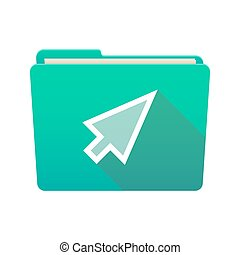 Folder icon with a cursor