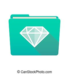 Folder icon with a diamond