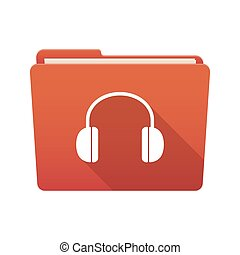 Folder icon with a hearphones