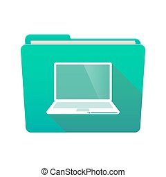 Folder icon with a laptop
