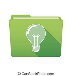 Folder icon with a light bulb
