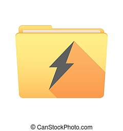 Folder icon with a lightning