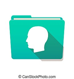 Folder icon with a male head