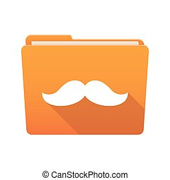 Folder icon with a moustache