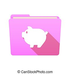 Folder icon with a pig