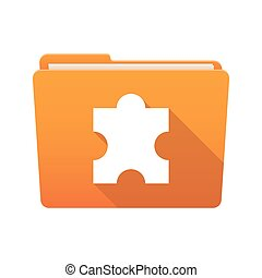 Folder icon with a puzzle piece