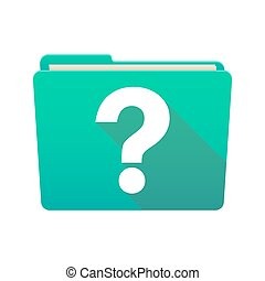 Folder icon with a question sign