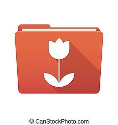 Folder icon with a tulip