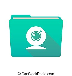 Folder icon with a web cam