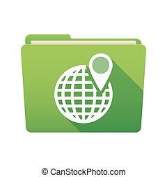 Folder icon with a world globe