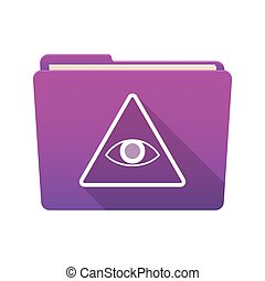 Folder icon with an all seeing eye