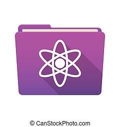 Folder icon with an atom