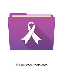 Folder icon with an awareness ribbon