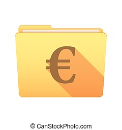 Folder icon with an euro sign