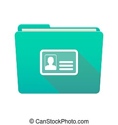 Folder icon with an id card