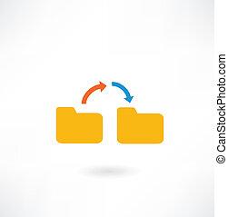 folder icon with arrows