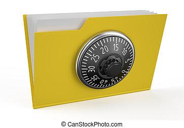 Folder icon with combination lock