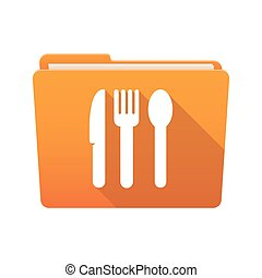 Folder icon with cutlery
