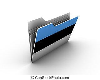 folder icon with flag of estonia