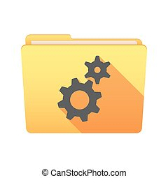 Folder icon with gears