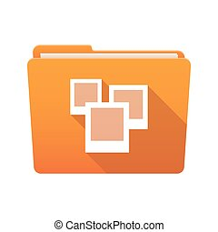 Folder icon with photos