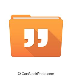 Folder icon with quotes