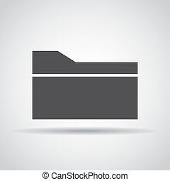 Folder icon with shadow on a gray background. Vector illustration