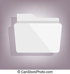 Folder icon with shadow