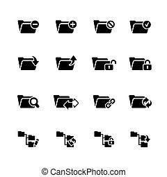 Folder Icons - 1 // Black Series