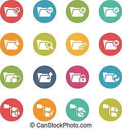 Folder Icons - 1 -- Fresh Colors