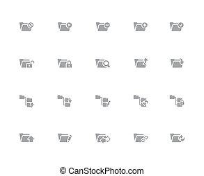 Folder Icons - 1 of 2 // 32px White Series
