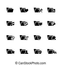 Folder Icons - 2 // Black Series