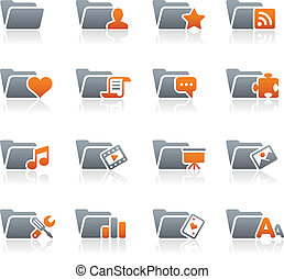 Folder Icons - 2 // Graphite Series