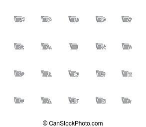 Folder Icons - 2 of 2 // 32px White Series