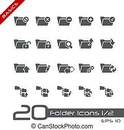 Folder Icons - Set 1 of 2 // Basics - Vector icons set for...